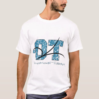 Blue Camo with scroll T-Shirt
