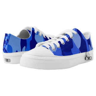 Blue Camouflage 101 Low-Top Sneakers