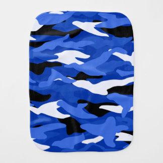 Blue camouflage burp cloth