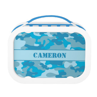 Blue Camouflage (Camo) | Personalized Lunch Box