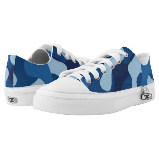 Blue Camouflage. Camo your Low-Top Sneakers