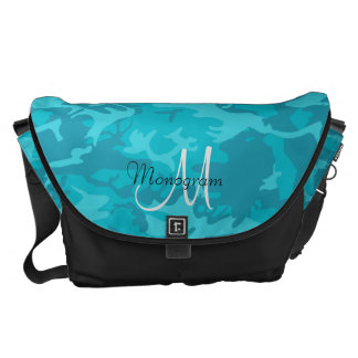 Blue Camouflage Courier Bag