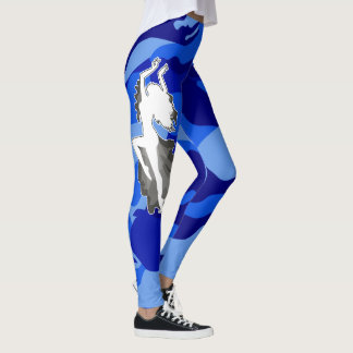 Blue Camouflage Femme Dancer Leggings