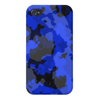 Blue Camouflage iPhone 4 Case