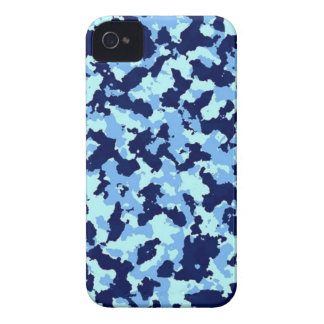 Blue Camouflage iPhone 4 Cover