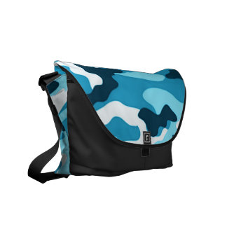Blue camouflage | Messenger Bag