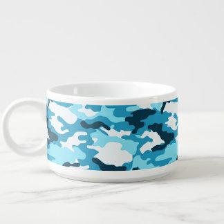 Blue Camouflage Pattern Chili Bowl