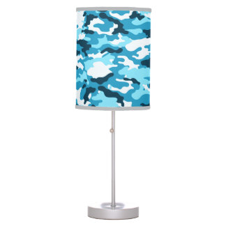 Blue Camouflage Table Lamp