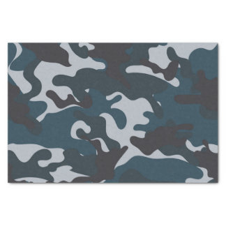 Blue Camouflage Tissue Paper