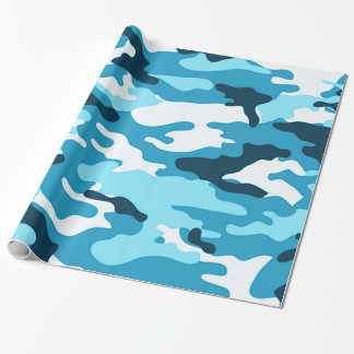 Blue camouflage | Wrapping Paper