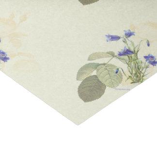 Blue Campanula Vintage Botanical Collage Tissue Paper