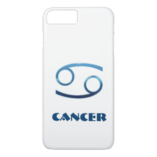 Blue Cancer Zodiac Sign On White iPhone 8 Plus/7 Plus Case