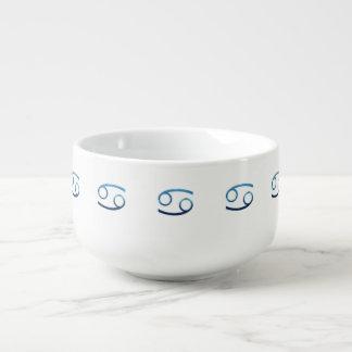 Blue Cancer Zodiac Signs On White Soup Mug