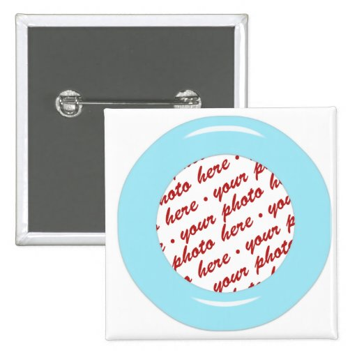 Blue Candy Ring Photo Frame Template Buttons