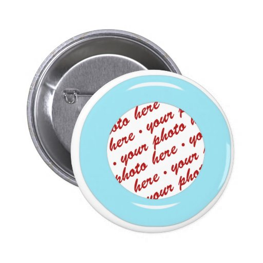 Blue Candy Ring Photo Frame Template Button