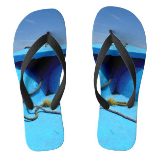 Blue Canoe with Rope Flip Flops