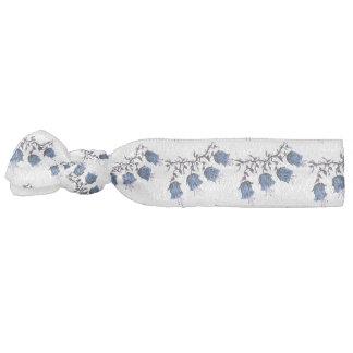 Blue Canterbury Bells on Vine Flowers Hair Tie