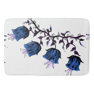 Blue Canterbury Bells Vine Flowers Large Bath Mat
