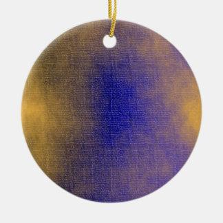 Blue Canvas Ceramic Ornament