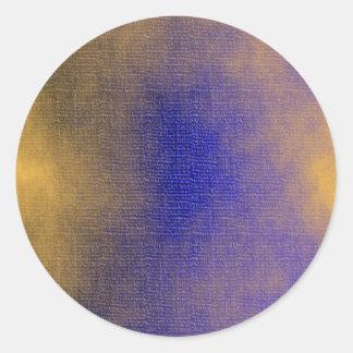 Blue Canvas Classic Round Sticker