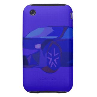 Blue Car Tough iPhone 3 Cases