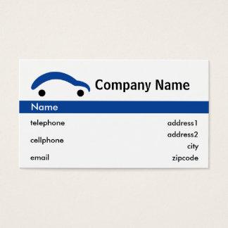 Blue Car Retail Business Card Design