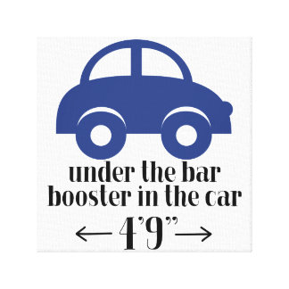 Blue Car Wrapped Canvas Sign
