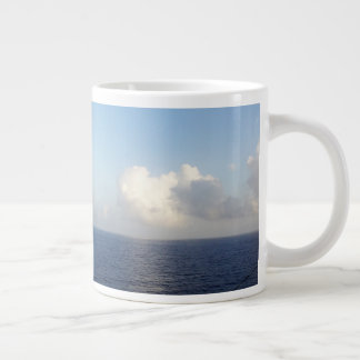 Blue Caribbean Skies and Sea Large Coffee Mug