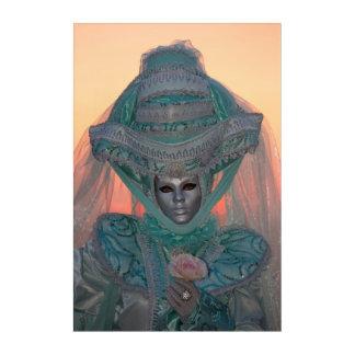 Blue Carnival Costume, Venice Acrylic Print
