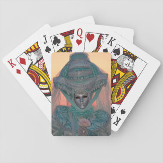 Blue Carnival Costume, Venice Playing Cards