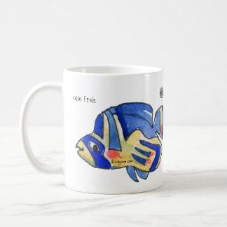 Blue Cartoon Butterfly Fish Mug