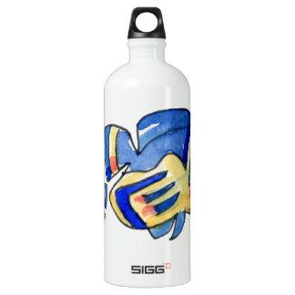 Blue Cartoon Butterfly Fish SIGG Traveler 1.0L Water Bottle