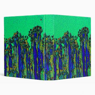Blue Cartoon Cacti Ring Binder