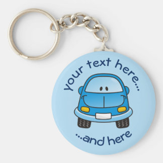 Blue cartoon car keychain