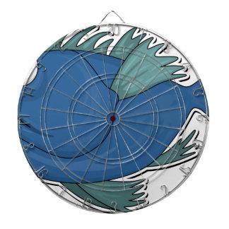 Blue Cartoon Fish Dartboard