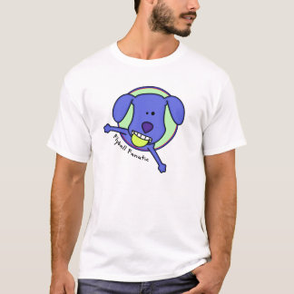 Blue Cartoon Flyball Fanatic T Shirt