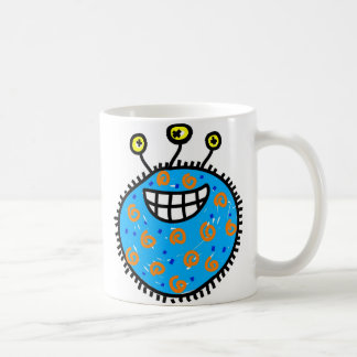 Blue Cartoon Germ Coffee Mug