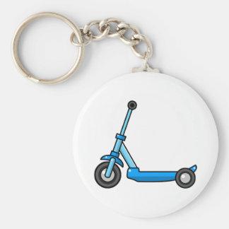 Blue Cartoon Kick/Push Scooter Key Chain