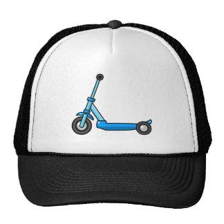 Blue Cartoon Kick/Push Scooter Trucker Hat