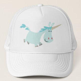 Blue Cartoon Unicorn  trucker cap