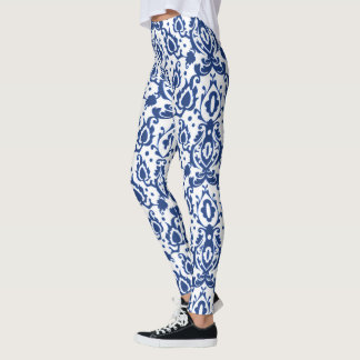 Blue Casbah Moroccan Chic Leggings