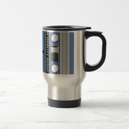 Blue Cassette Retro Mugs