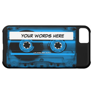 Blue Cassette Tape Personalized iPhone 5C Cover