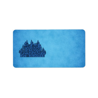 Blue Castle. Label