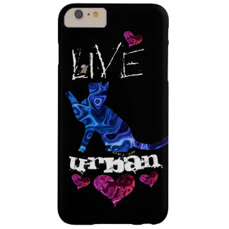 """Blue Cat Abstract"" - Apple iPhone 7, Tough Phone Barely There iPhone 6 Plus Case"