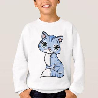 Blue Cat Cartoon Sweatshirt