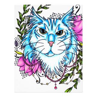 blue cat customized letterhead