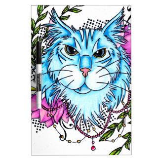 blue cat dry erase board