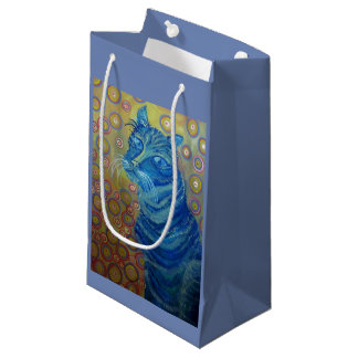 blue cat gift bag