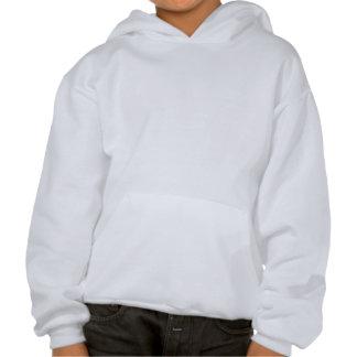 Blue cat, pink eye hooded sweatshirts